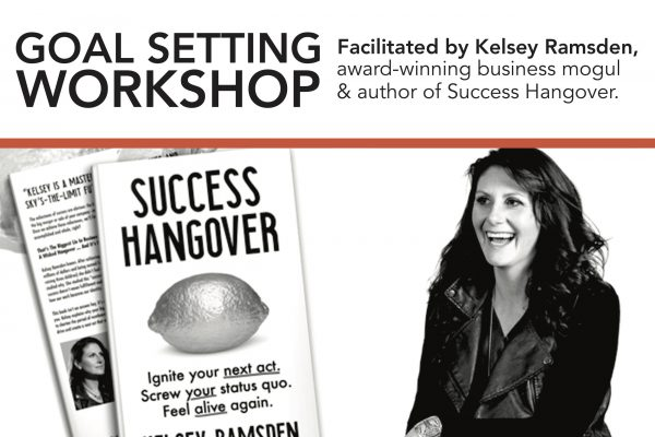 TORONTO:  Goal Setting Workshop with Kelsey Ramsden