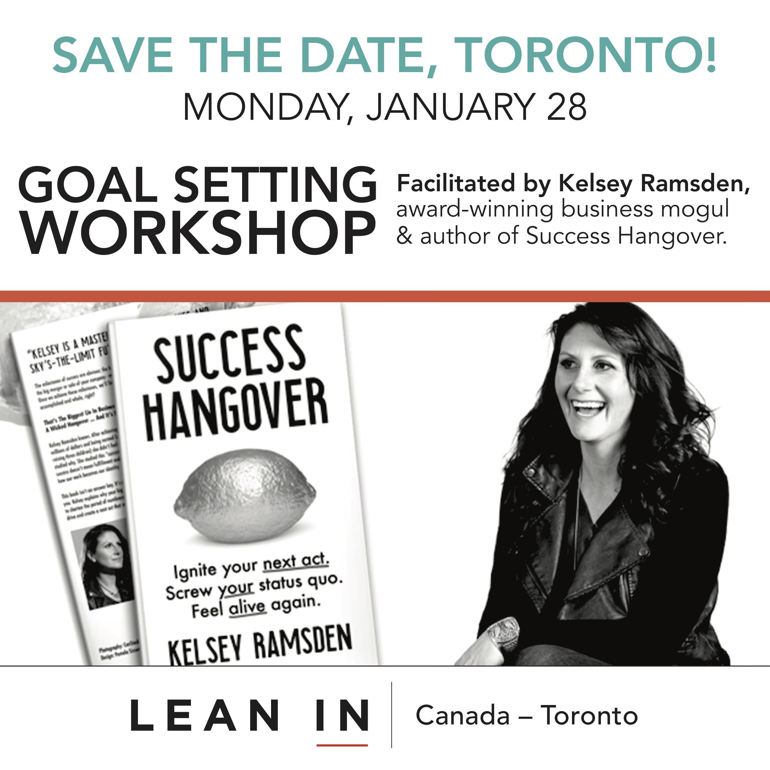 TORONTO:  Goal Setting Workshop with Kelsey Ramsden